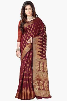 ISHIN Women Banarasi Raw Silk Saree - 202274315