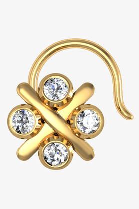 VELVETCASEWomens 18 Karat Yellow Gold Nose Ring (Free Diamond Pendant) - 201065091