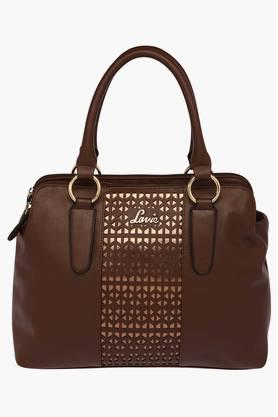 LAVIE Womens Indus 3 Compartment Zipper Closure Satchel