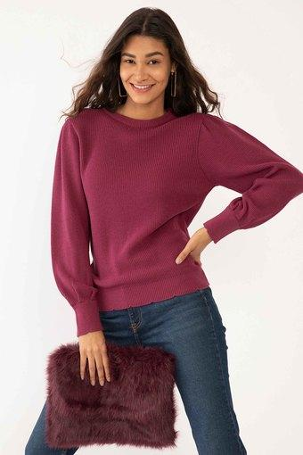 ZINK LONDON -  PurplePullover & Cardigan - Main