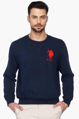 U.S. POLO ASSN. Mens Regular Fit Round Neck Solid Sweatshirt