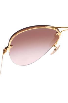 Mens Half Rim Aviator Sunglasses