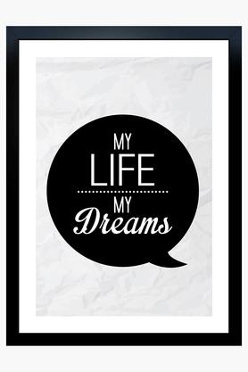 CRUDE AREA Multi Colour My Life My Dreams Printed Paper Poster  ...