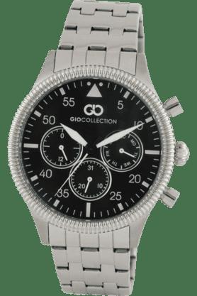 Mens Silver Metal Strap Multifunctional Watch- G1006-22