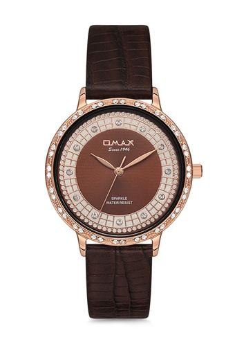 Womens Sparkle Brown Dial PU Analogue Watch - FA9-SPL01R55I