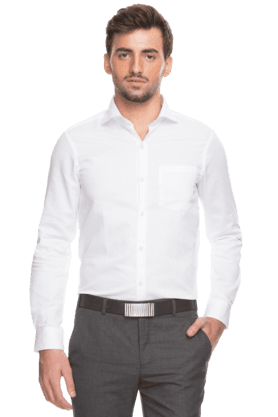 Arrow Ties Formal Shirts (Men's) - Mens Full Sleeves Slim Fit Formal Printed Shirt