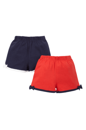MOTHERCARE Girls Cotton Solid Shorts -Pack Of 2