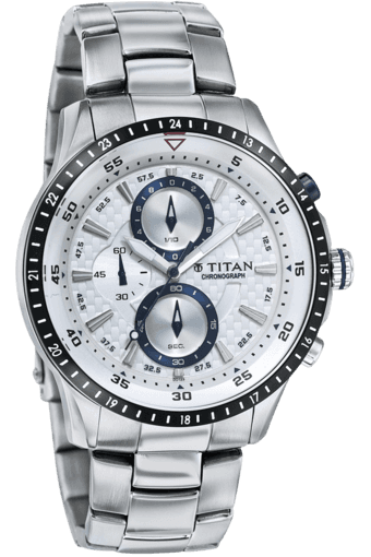 ed8c7aae54f Buy TITAN Mens Chronograph Watch with Metallic Strap - Octane Collection -  9496KM02J