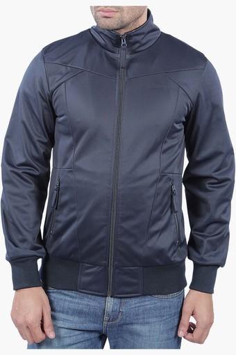 Mens Full Sleeves Solid Jacket (Biker Fit)