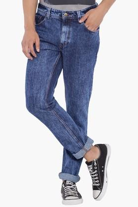 BLUE SAINT Mens Blue Mid Rise Slim Fit Jeans