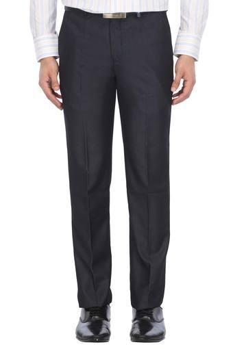 LOUIS PHILIPPE -  NavyCargos & Trousers - Main