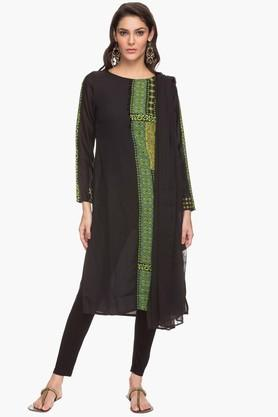 IMARA Womens Printed Churidar Kurta And Dupatta Set