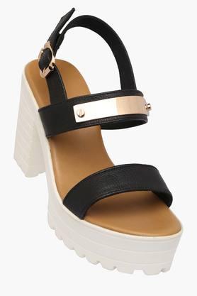 Womens Casual Buckle Closure Heels