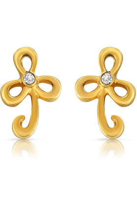 MAHIMahi Gold Plated Refined Beauty Earrings With Crystals For Women ER1103705G