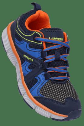 KITTENSBoys Navy Lace Up Sport Shoe