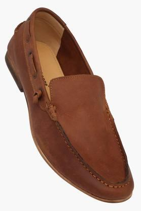 Mens Leather Slip On Loafers - 202211484