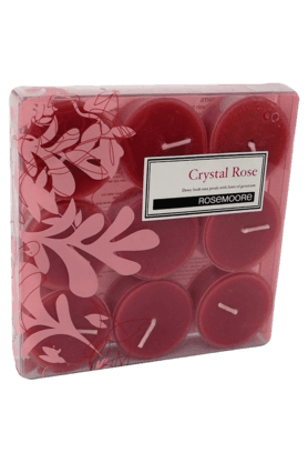 ROSEMOORE Tea Lights Crystal Rose