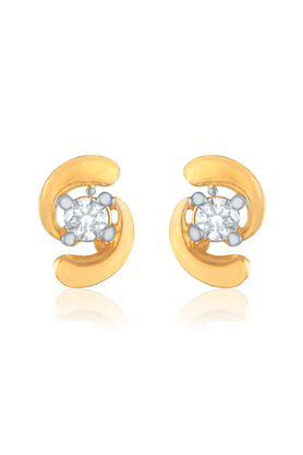 MAHI Mahi Gold Plated Birdie Earrings With CZ For Women ER1109138G