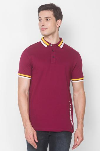 FCUK -  PurpleT-Shirts & Polos - Main