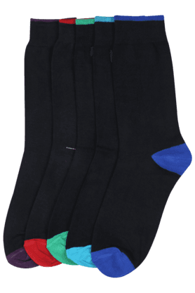 STOP Men Printed Socks (Set Of 5) - 8933434