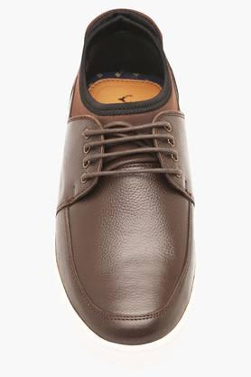 Mens Leather Lace Up Boat Shoes