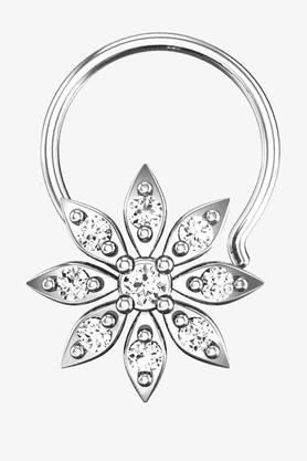 VELVETCASEWomens 18 Karat White Gold Nose Ring (Free Diamond Pendant) - 201065001