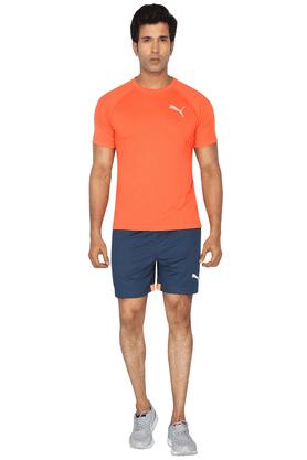 Mens Regular Fit Solid Shorts