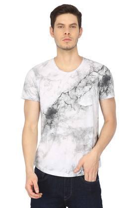 Mens Round Neck Tie Dye T-Shirt