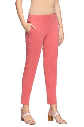 Womens Single Pocket Solid Pants