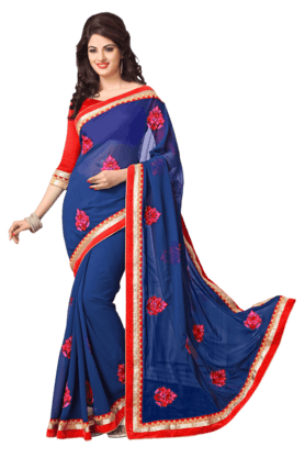 DEMARCA Women Georgette Designer Saree - 9932885