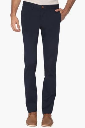 Mens Slim Fit 5 Pocket Solid Chinos (Brooklyn Fit)