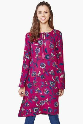 GLOBAL DESI Womens Bell Sleeves Tunic