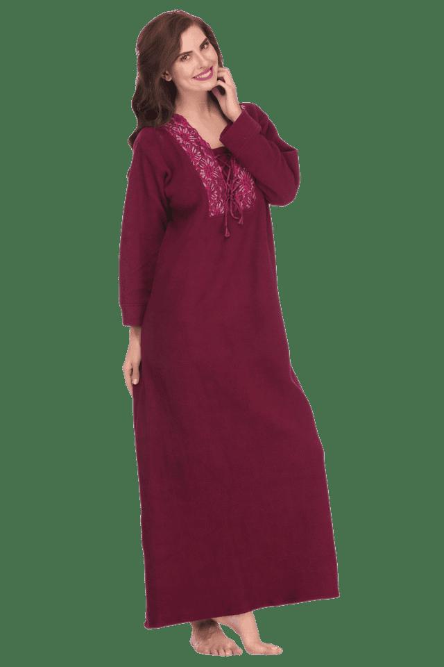 Buy CLOVIA Womens Long Sleeves Nighty  d128267a7