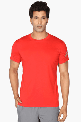 ADIDAS Mens Round Neck Short Sleeves Solid T-Shirt