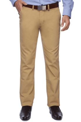 LOUIS PHILIPPE SPORTS Mens Flat Front Slim Fit Solid Chinos - 9962681