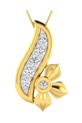 SPARKLESHis & Her Collection 18 Kt Pendant In Gold & Real Diamond HHP9877