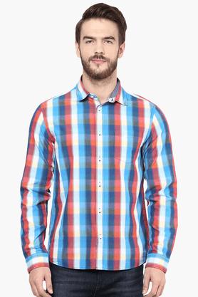 Celio Formal Shirts (Men's) - Mens Full Sleeves Regular Fit Casual Check Shirt