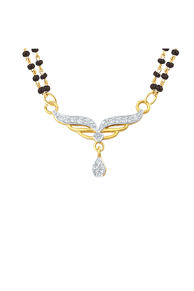 Mahi Gold Plated Holy Token Mangalsutra Pendant with CZ for Women PS1196004G2