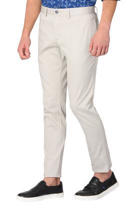 Mens 5 Pocket Self Printed Trousers