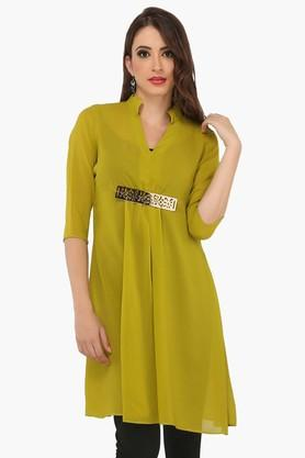 IRA SOLEILWomens A Line Fit Solid Kurta (Buy Any Ira Soleil Product And Get A Charms Bracelet Free) - 201787598
