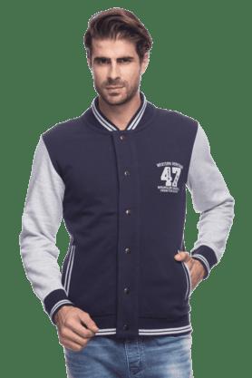 WRANGLERMens Full Sleeves Slim Fit Solid Jacket