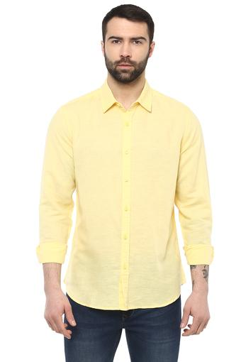 Mens Slim Fit Slub Casual Shirt