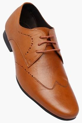 FRANCO LEONE Mens Leather Lace Up Derbys - 202658090