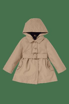Girls Stone Trench Coat