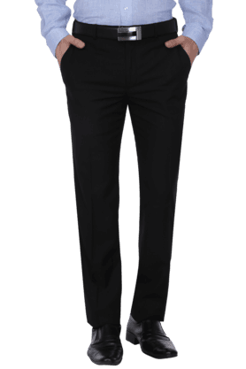 PARK AVENUE Mens 4 Pocket Flat Front Slim Fit Solid Formal Trouser - 200769064