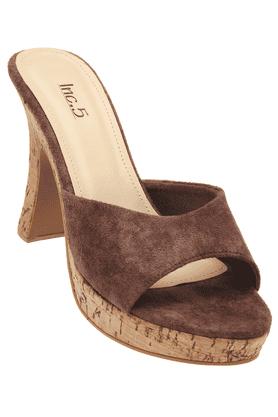 INC.5Womens Brown High Heel Sandal