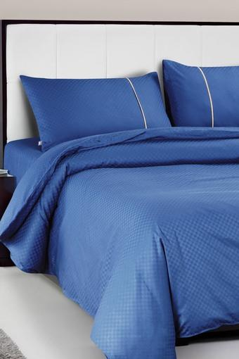 Oxford Solid Pure Cotton Fitted Bedsheet with 2 Pillow Covers 400 TC