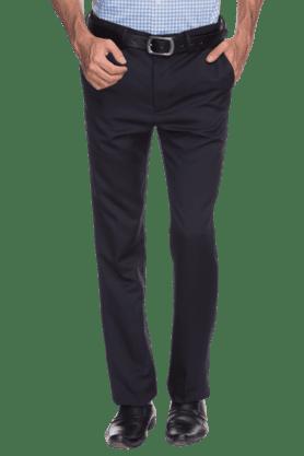 ARROWMens Flat Front Slim Fit Solid Formal Trouser