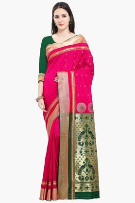 Women Bhagalpuri Art Silk Pethni Border Heavy Richpallu Saree - 202447141