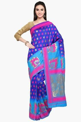 Womens Art Silk Golden Weave Saree With Blouse Piece - 202531362